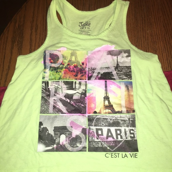 82230de33fa3a Justice Other - Justice girls Paris t- back tank! Perfect